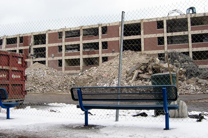 a view of destruction