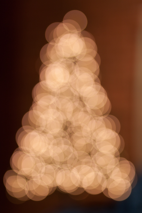 Out-of focus Christmas tree; Christmas 2012