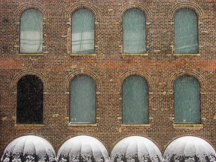 Near North Side building in the March 5th snowstorm.