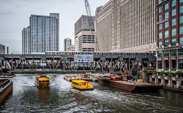 The newly reconstructed Wells St. Bridge over the Chicago River is nearing completion.
