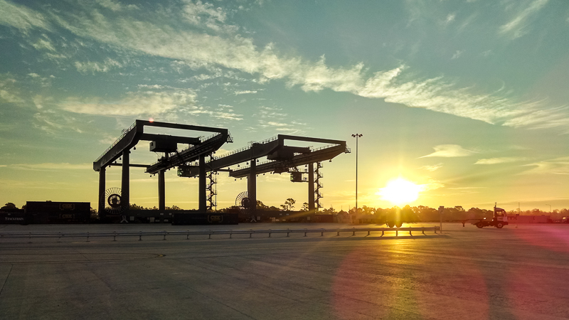 morning at the CSX yard in Winter Haven, Florida