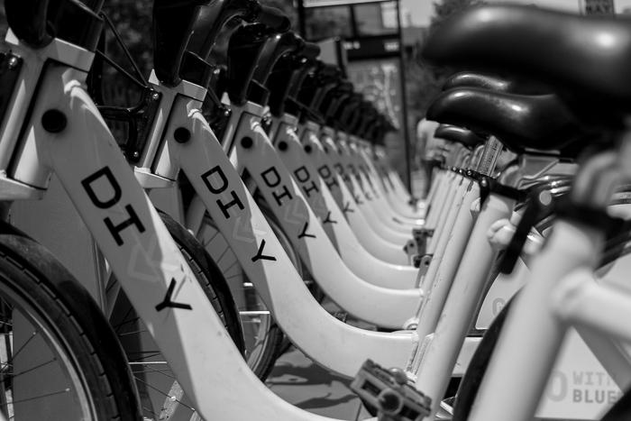Divvy bike station at Jefferson & Monroe, West Loop, Chicago