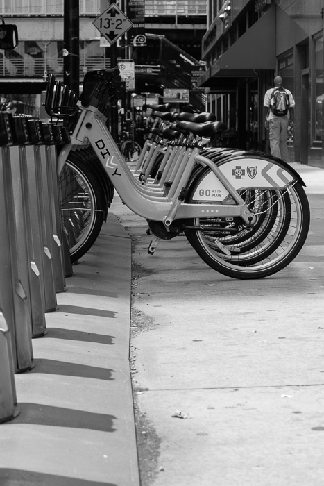 Monroe & Michigan Ave. Divvy Station. Chicago.