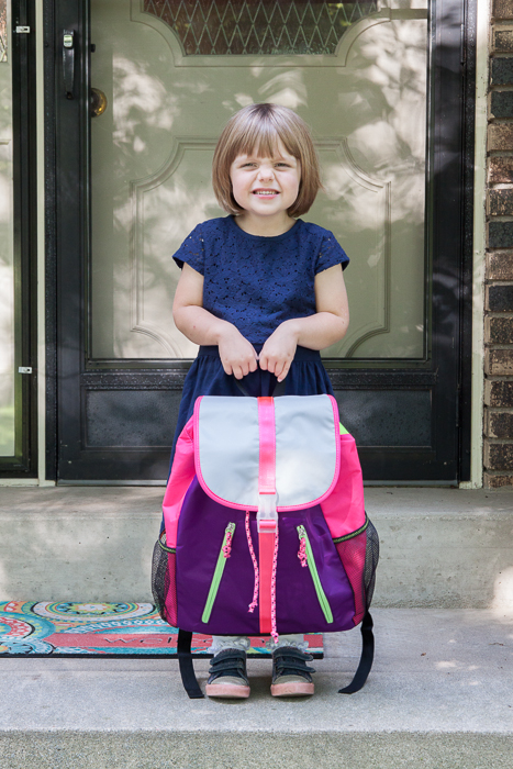 Lily, 4, starting her second year of preschool.