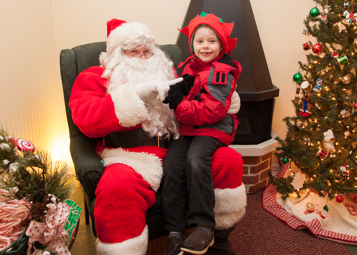 Nate visiting Santa in Crystal Lake