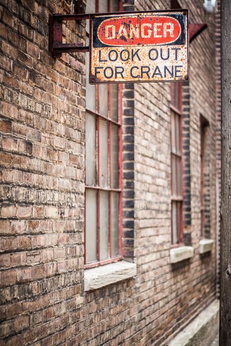 Old sign in Chicago's West Loop neighborhood