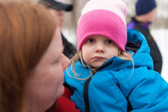 """Lily is not impressed by the McHenry County Conservation District """"Festival of the Sugar Maples"""" at the Coral Woods Conservation Area near Union, IL.  However, the rest of us had fun and had a taste of the syrup they make there every year."""