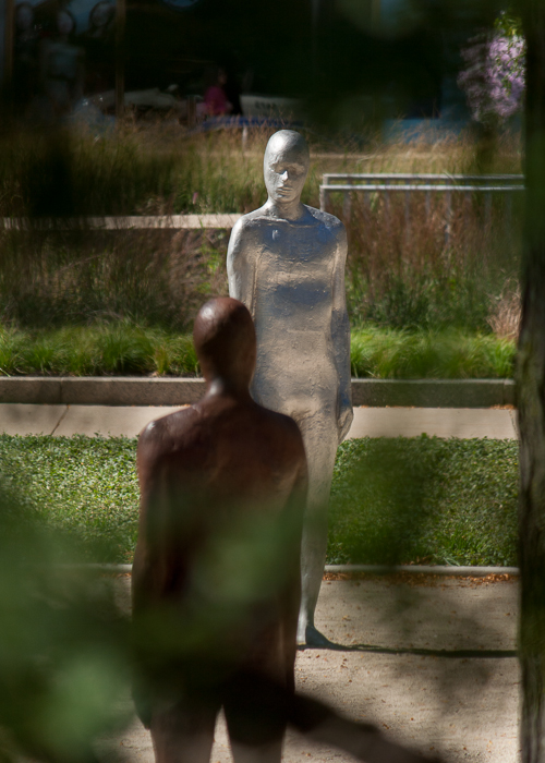 There is a temporary sculpture installation at Grant Park, Chicago.