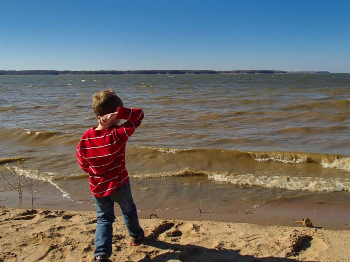 Nate at Red Rock Lake near Pella, Iowa.