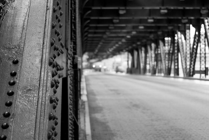 Lake Street bridge, looking west into the West Loop. Chicago