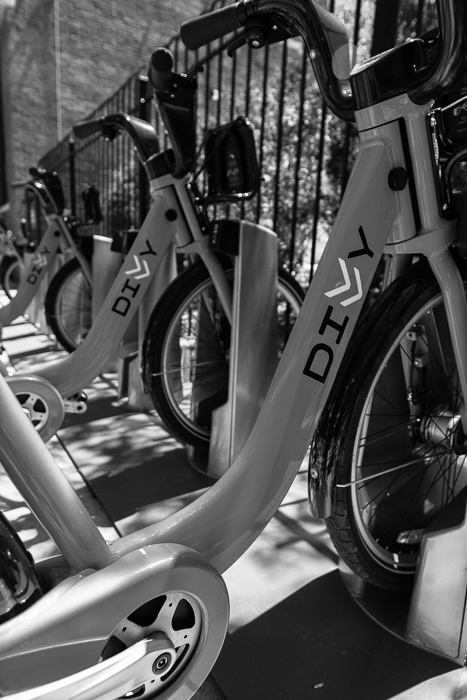 Divvy Bike station at Ada St. & Washington Blvd, West Loop, Chicago, IL