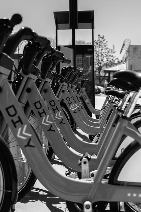 Divvy Bikes in the Pilsen neighborhood where I rode.