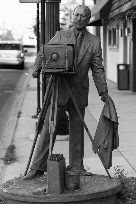 This statue is outside the Edward Fox Photography studio in Jefferson Park, Chicago