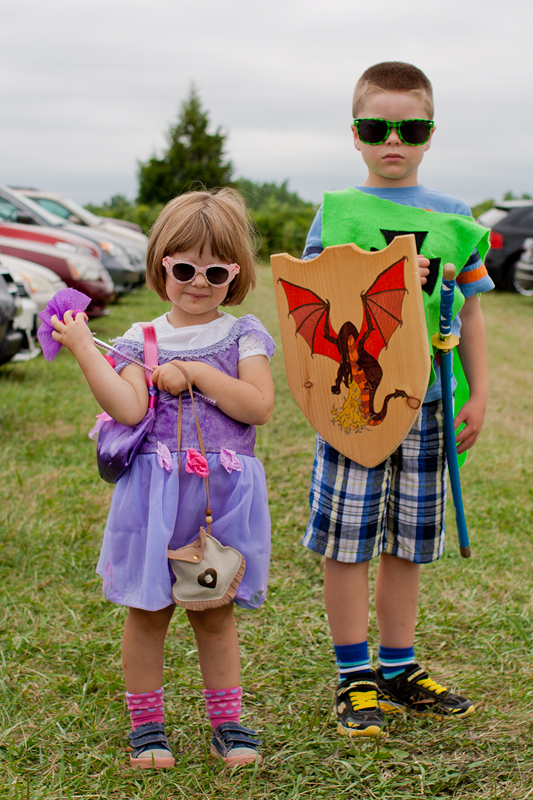 Nate and Lily before the Ren Faire.