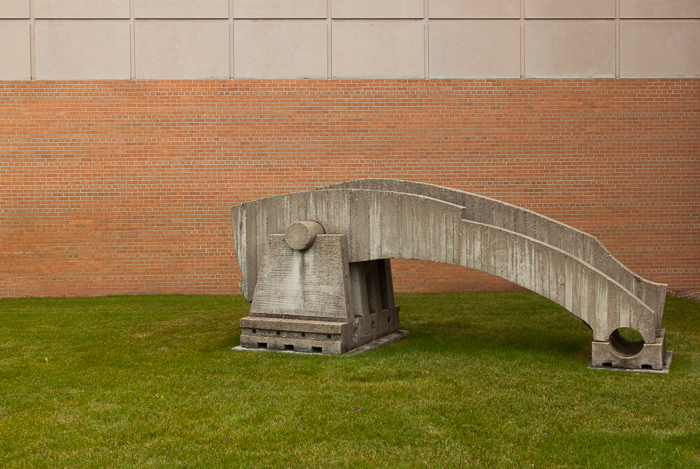 Sculpture outside the Discovery Center Museum, Rockford, IL