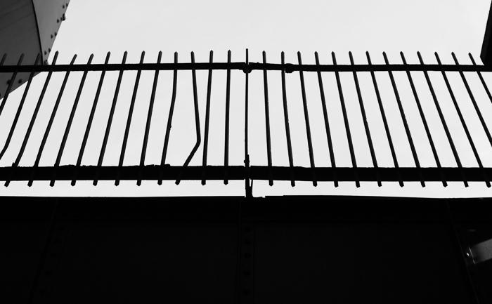 Bent fence. West Loop, Chicago