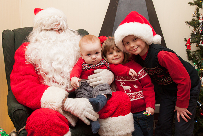 Here is Jamie, Lily, and Nate visiting Santa a few days before Christmas.